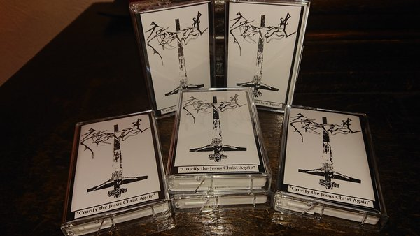 Azazel  ‎– Crucify The Jesus Christ Again Demo TAPE