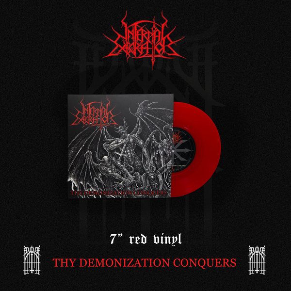 "Infernal Execrator - Thy Demonization Conquers 7"" red"