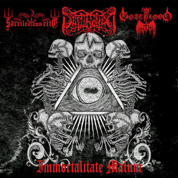 Dethroned / Sacrilegious Rite / Goatblood - Immortalitate Malum CD